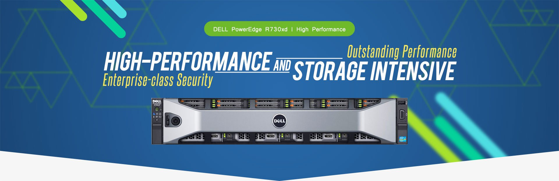 DELL PowerEdge R730xd, High Performance High-Performance and Storage Intensive Enterprise-class Security, Outstanding Performance